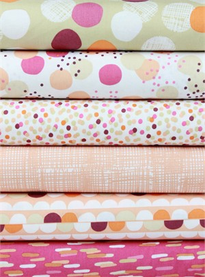 Lisa Tilse for Robert Kaufman, Light and Shade Sorbet in FAT QUARTERS 6 Total