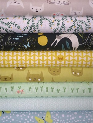 Lizzy House, Catnap, Persian Palisades in FAT QUARTERS 8 Total