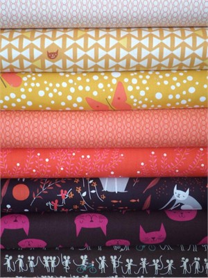 Lizzy House, Catnap, Tabby Tango in FAT QUARTERS 8 Total