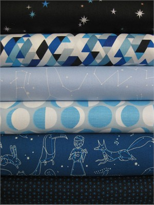 Lizzy House, Constellations, Midnight Hour in FAT QUARTERS, 6 Total
