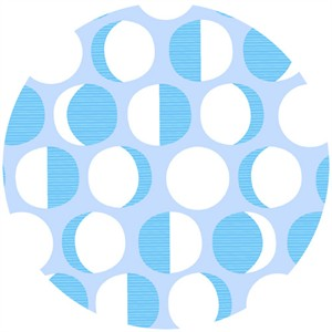 Lizzy House, Constellations, Moon Phase Polka Dot Blue