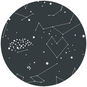 Lizzy House, Constellations, Star Charts Black
