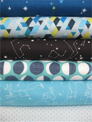 Lizzy House, Constellations, Star Gazer in FAT QUARTERS, 6 Total