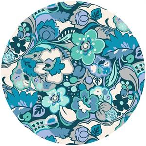 Liberty Lifestyle Fabrics, Bloomsbury Gardens, Chatherine Pale Blue