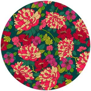 Liberty Lifestyle Fabrics, Bloomsbury Gardens, Copeland Magenta Teal