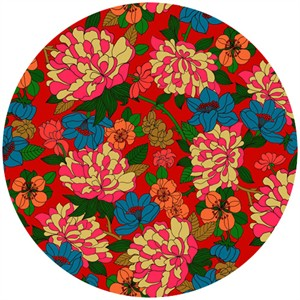 Liberty Lifestyle Fabrics, Bloomsbury Gardens, Copeland Rich Red Blue