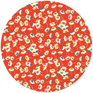 Liberty Lifestyle Fabrics, Bloomsbury Gardens, Dance Rich Red Blue