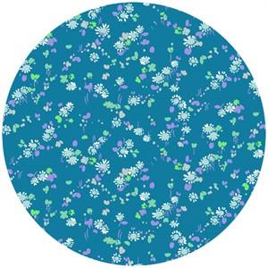 Liberty Lifestyle Fabrics, Bloomsbury Gardens, Dorothy Pale Blue