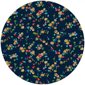 Liberty Lifestyle Fabrics, Bloomsbury Gardens, Dorothy Rich Red Blue