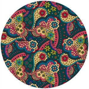 Liberty Lifestyle Fabrics, Bloomsbury Gardens, Virginia Magenta Teal