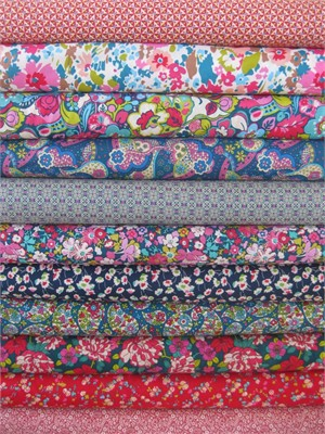 Liberty Lifestyle Fabrics, Magenta Teal in FAT QUARTERS 11 Total