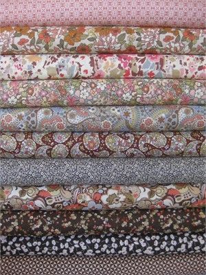 Liberty Lifestyle Fabrics, Natural Brown in FAT QUARTERS 11 Total