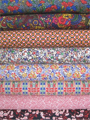 Liberty Lifestyle Fabrics, Stile, Spice  in FAT QUARTERS, 8 Total