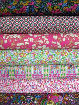 Liberty Lifestyle Fabrics, Stile, Spring in FAT QUARTERS, 7 Total