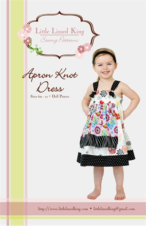 Little Lizard King Sewing Patterns, Apron Knot Dress