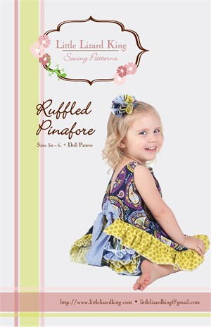 Little Lizard King Sewing Patterns, Ruffled Pinafore