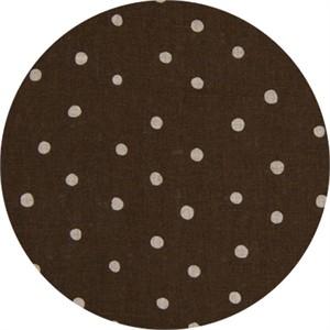Cosmo Textiles, LINEN, Linen Dot Brown