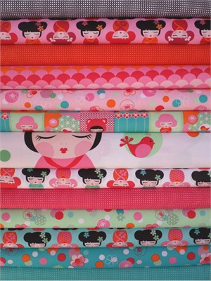 Lisa Tilse for Robert Kaufman, Hello Tokyo in FAT QUARTERS 12 Total