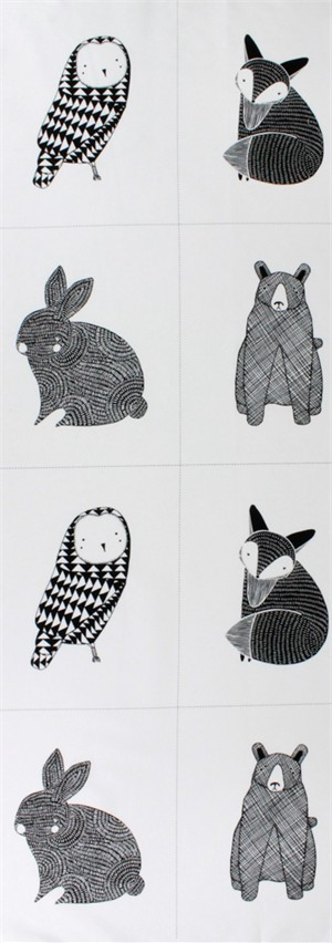 "Moda, Thicket Little Critter Panel White (17"" Panel)"