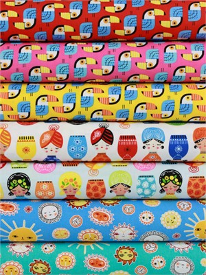Suzy Ultman for Robert Kaufman, Little Senoritas in FAT QUARTERS 7 Total