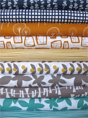 Lotta Jansdotter, Glimma, Bright Family in FAT QUARTERS, 10 Total