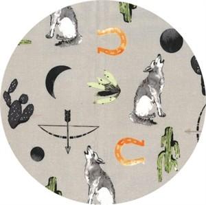 Hailey Hoffman for Hoffman Fabrics, Desert Dawn, Lone Wolf Taupe