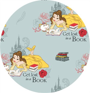 Camelot Fabrics, Beauty and The Beast, Lost in a Book Dusty Blue