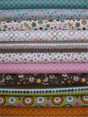 Lola Violet, Blooming Lovely, Entire Collection in FAT QUARTERS 11 Total