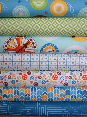 Lori Whitlock, Fun & Games, Blue in FAT QUARTERS 7 Total