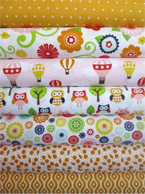 Lori Whitlock, Lazy Day, Orange in FAT QUARTERS 6 Total