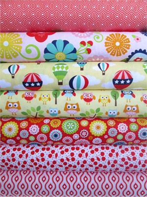 Lori Whitlock, Lazy Day, Red in FAT QUARTERS 7 Total (PRE-CUT)