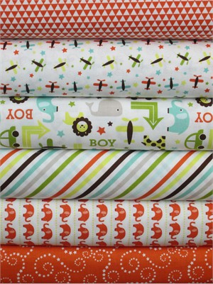 Lori Whitlock, Oh Boy, Orange in FAT QUARTERS 6 Total