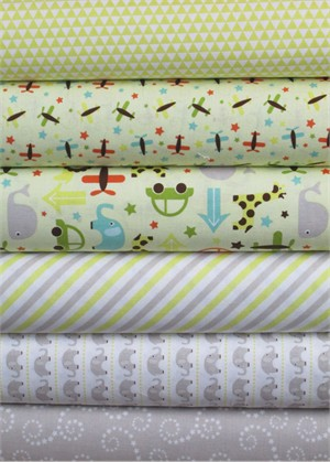 Lori Whitlock, Oh Boy, Yellow/Gray in FAT QUARTERS 6 Total
