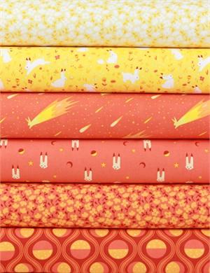 Felice Regina for Windham Fabrics, Luna Sol, Sunrise in FAT QUARTERS 6 Total