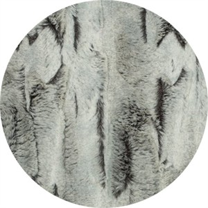 Shannon Fabrics, Luxe Cuddle, WIDE WIDTH, Silver Fox Sterling/Black