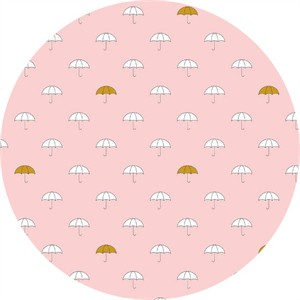 Simple Simon & Company for Riley Blake, When Skies Are Grey, METALLIC, Main Pink Sparkle