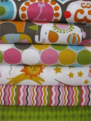 Maude Abury, Bailey, Pink in FAT QUARTERS 6 Total