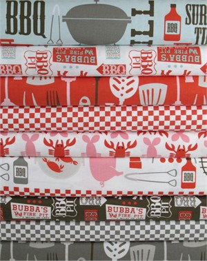 Maude Asbury, Ribs & Bibs in FAT QUARTERS 8 Total