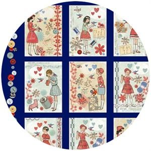 Macrina Busato, Handmade, Handmade Panel Blue (24 Inch Panel)