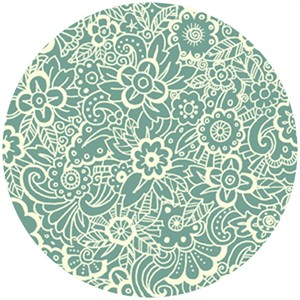 Makower, Deco Flowers, Tonal Teal