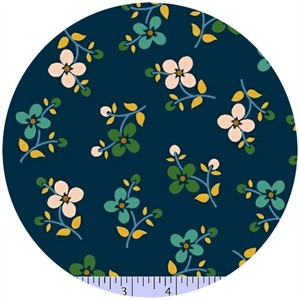 Marcus Fabrics, Color Love, Bloom Dark Blue
