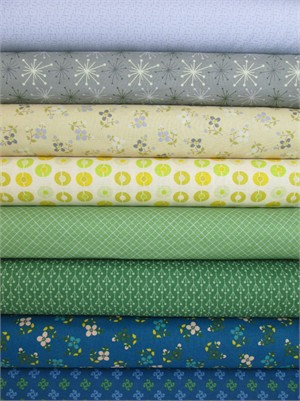 Marcus Fabrics, Color Love, Blue/Green in FAT QUARTERS 8 Total