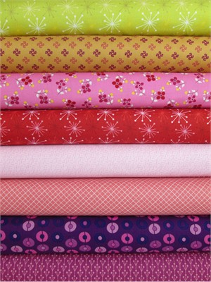 Marcus Fabrics, Color Love, Pink/Magenta 8 Total