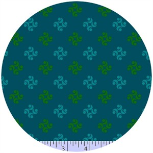 Marcus Fabrics, Color Love, Wallpaper Teal