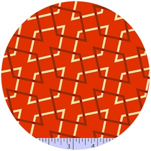 Marcus Fabrics, Retro Geo, Diamonds Mandarin