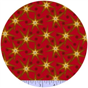 Marcus Fabrics, Retro Geo, Star Bright Cherry
