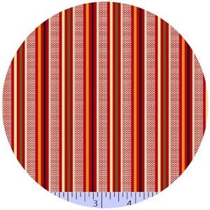 Marcus Fabrics, Retro Geo, Stripe Cherry