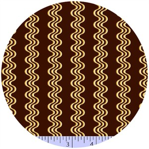 Marcus Fabrics, Retro Geo, Wave Stripe Espresso