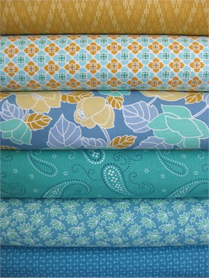 Marcus Fabrics, Visual Effects, Blue Daze in FAT QUARTERS 6 Total