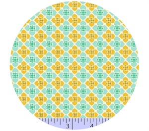 Marcus Fabrics, Visual Effects, Floral Tiles Aqua